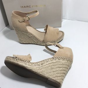 Marc Fisher Kickoff Natural Wedge Sandals